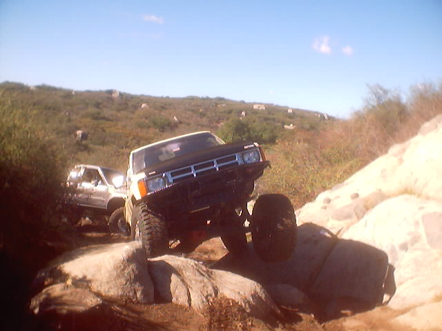 first obstacle at Corral Canyon