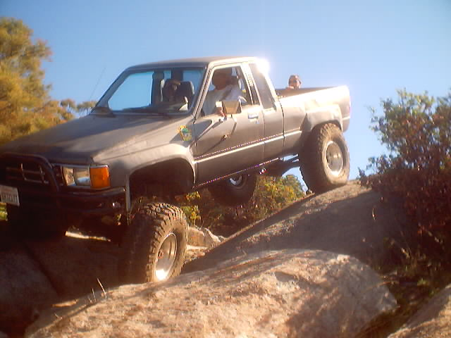 Als 85 pickup at Corral Canyon